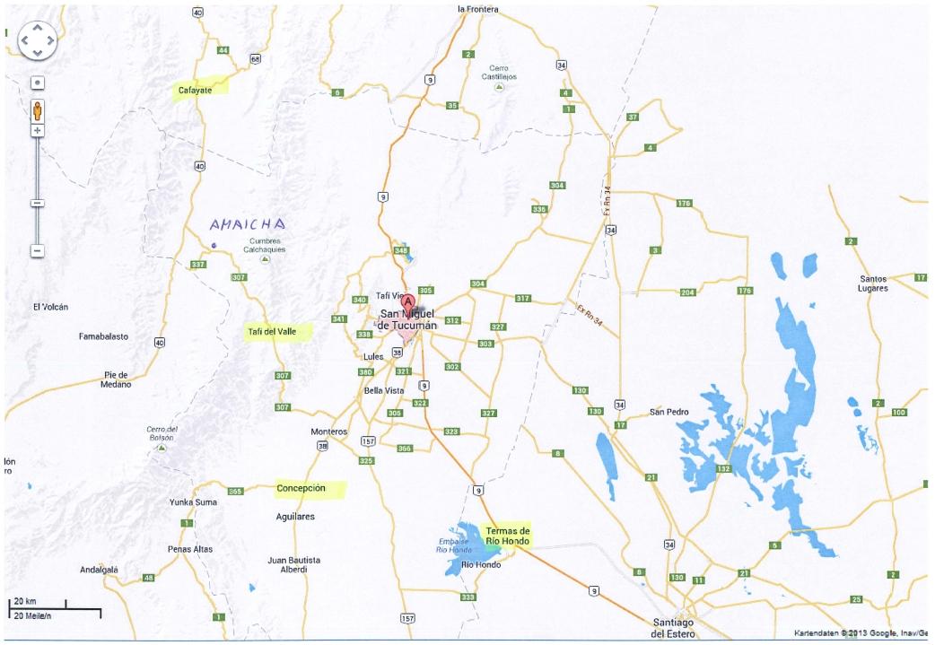 Orte zum Abnehmen in Tucuman